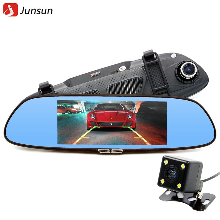 Junsun H300 6.5 Inch Review Camera Dual Lens Rear view Mirror Dashcam //Price: $81.00 & FREE Shipping //     #android