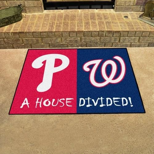 Philadelphia Phillies - Washington Nationals MLB House House Divided Rug