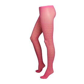 Lindex pink patterned tights