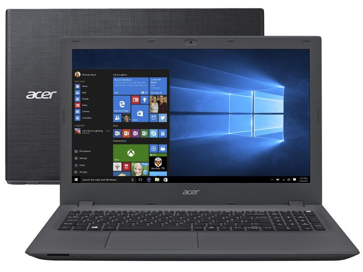 "Notebook Acer Aspire E5 Intel Core i7 6ª Geração 8GB 1TB LCD 15,6"" Placa de Vídeo 4GB Windows 10 - Notebook - Magazine Luiza"