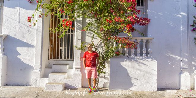Cartagena's streets and houses with balconies full of flowers!  http://aristofennes.com/calles-cartagena-de-indias-colombia/
