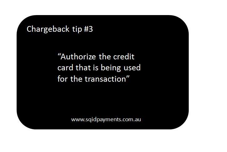 Chargeback tip #3