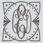 Pretty contemporary monogram