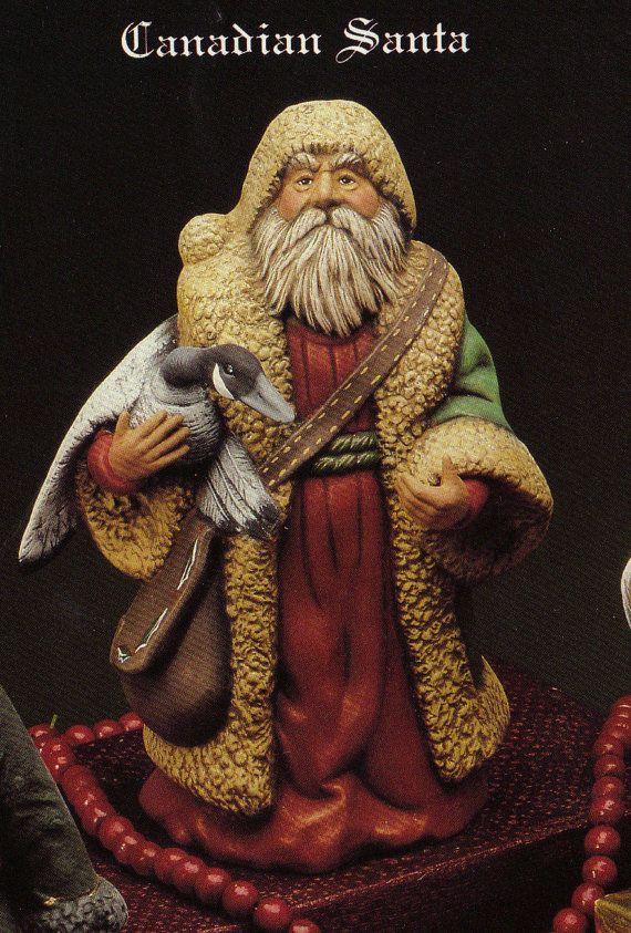 Old World Canadian Santa Santa and GooseCollectible by TSoriginals