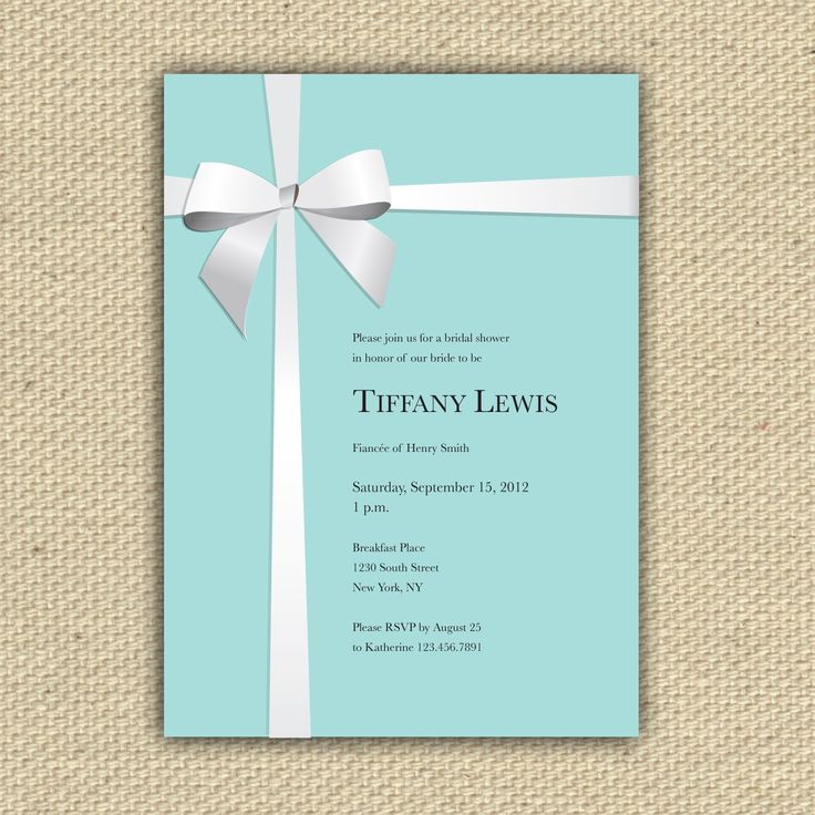 Tiffany and Co. Inspired Customized DIY Printable by stacey0803