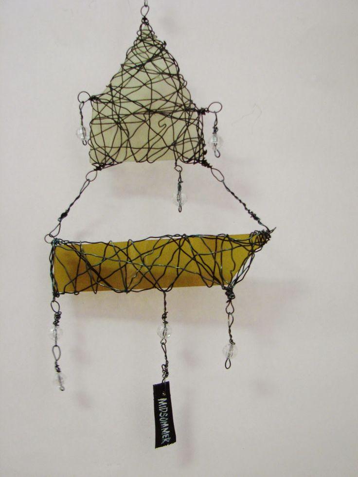 Midsommer, 2014, wire, glass, artist Eija Suneli