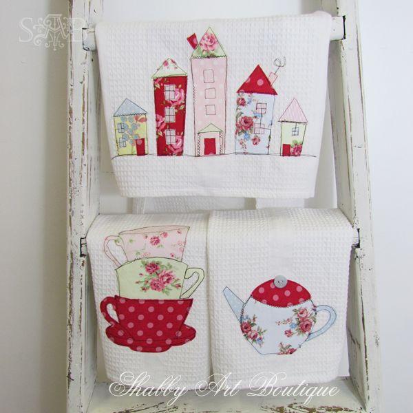 Shabby Art Boutique handmade tea towels 2
