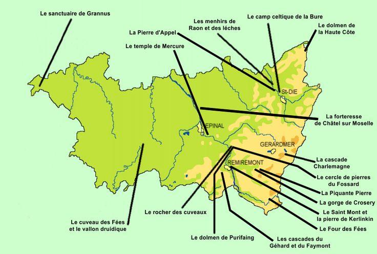 carte des Vosges