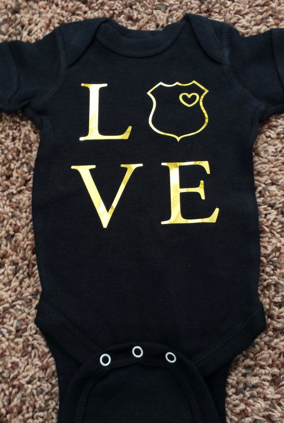 Hey, I found this really awesome Etsy listing at https://www.etsy.com/listing/210021849/police-baby-onesie-police-baby-love