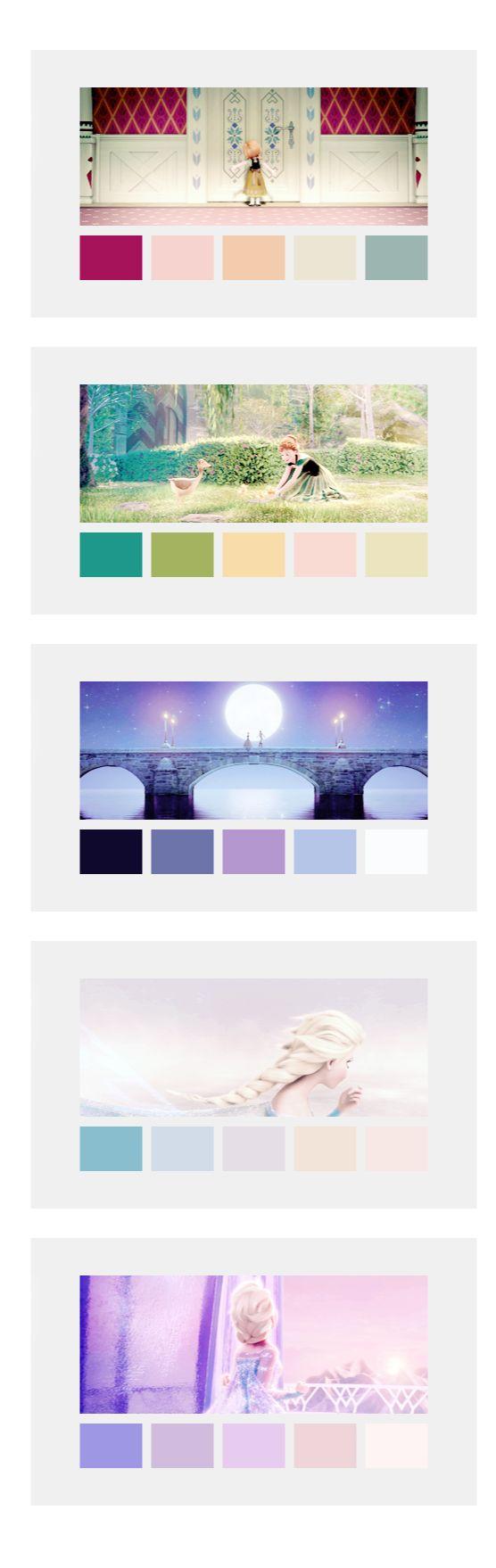 Frozen inspired bedroom - Frozen Color Palette
