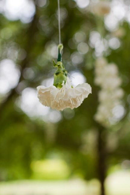 Hanging flowers.. how cute!