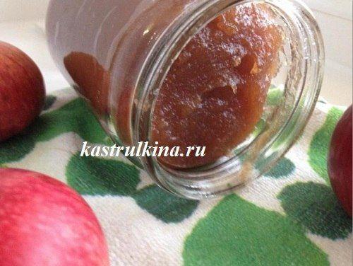 Густое яблочное повидло на зиму из ароматных яблок с минимумом сахара.