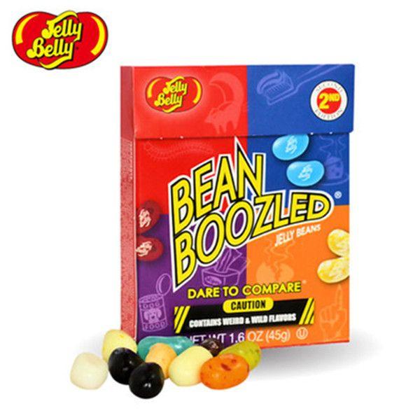 새로운 45 그램 달콤한 캔디 콩 이상한 맛 식품 스낵 해리 포터 젤리 콩 사탕 콩 Boozled 할로윈 크리스마스 선물