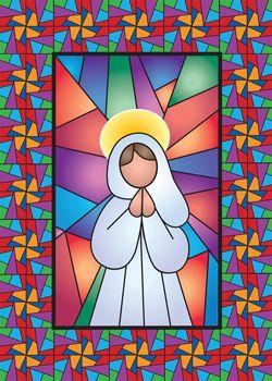 La Virgen De Guadalupe~ Stain Glass Virgen De Guadalupe