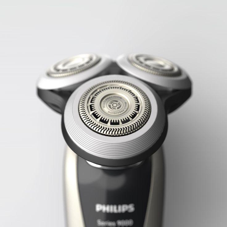Philips shaver 9000 series rendered in KeyShot by Remko de Wit.