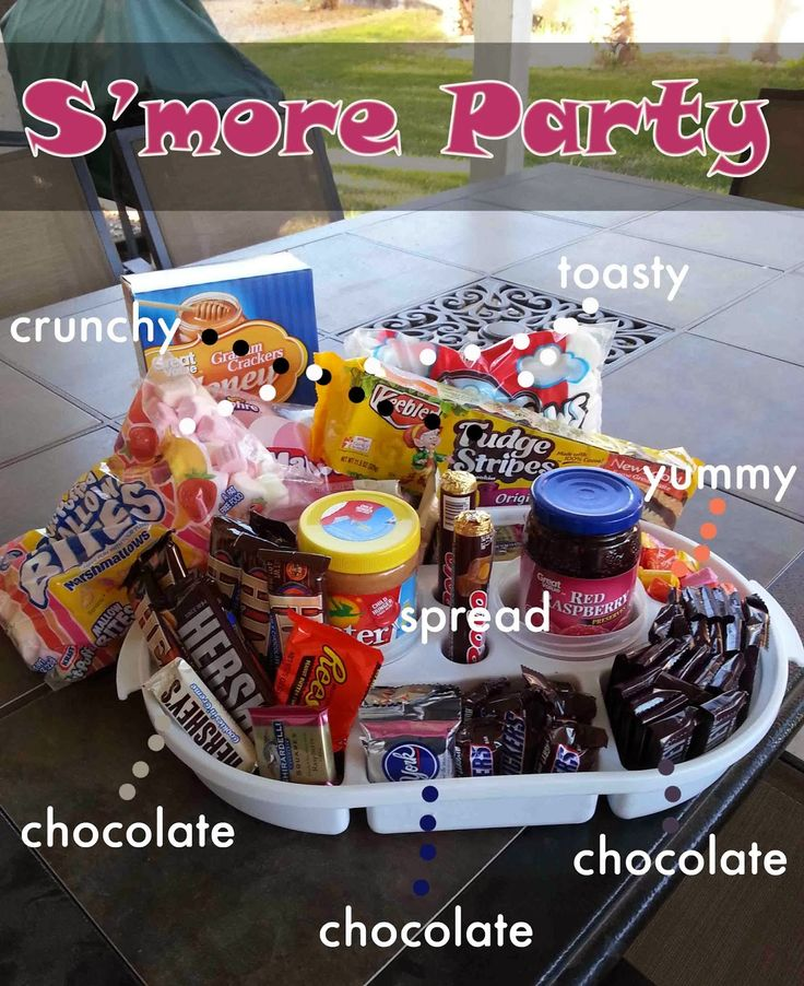 A S'More party can be a cheap and easy way to have a party to fit everyone's tastes.  Here's how I did mine for about 30 dollars and minimal effort.