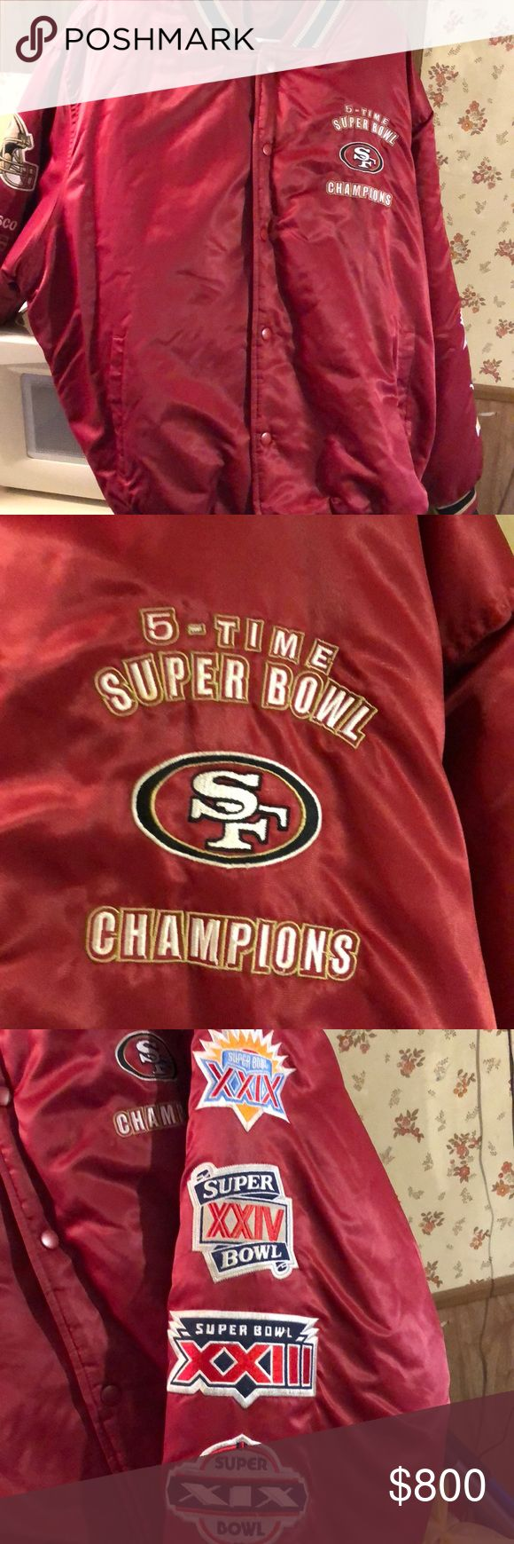 5 Time Super Bowl 49ers jacket Limited edition Mitchell & Ness Jackets & Coats Bomber & Varsity