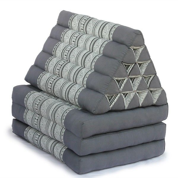 King Triangle Pillow Three Fold Batik (Grey) For the Home Pinterest Pillows, Pillow room ...