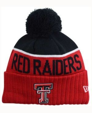 New Era Texas Tech Red Raiders Sport Knit Hat - Red Adjustable