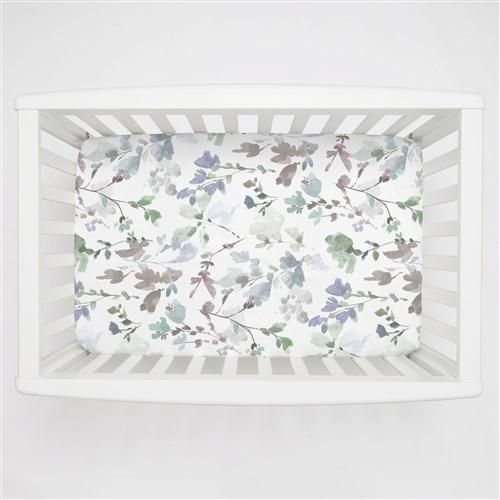 Soft Wildflower Mini Crib Sheet   Carousel Designs