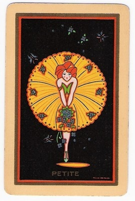 Swap Playing Card Deco Lady Named Petite | eBay