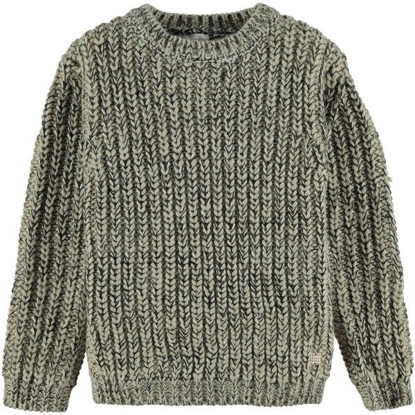 Chunky Knit Jumper Beige (€51) ❤ liked on Polyvore featuring tops, sweaters, beige top, jumper tops, beige sweater, beige jumper and animal sweaters