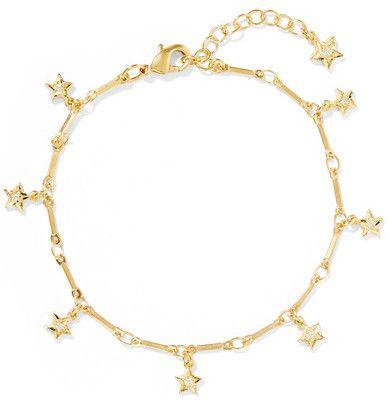 IAM by Ileana Makri - Mini Star Gold-plated Cubic Zirconia Bracelet - one size
