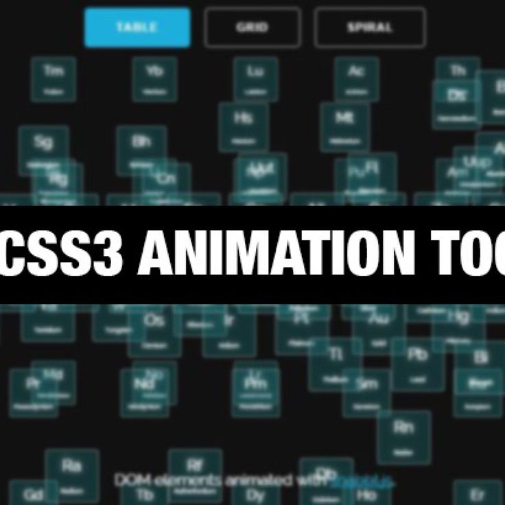 10 CSS3 Animation Tools
