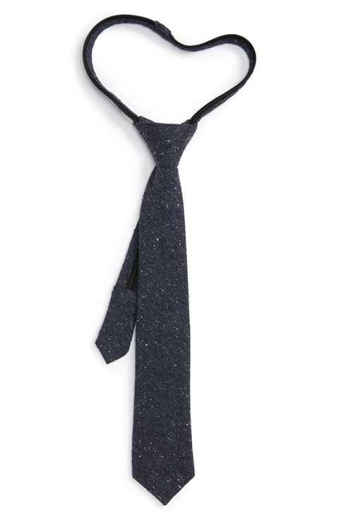 Nordstrom Nep Silk Zipper Tie (Big Boys)