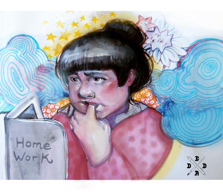 #illustration #digitalart #homework