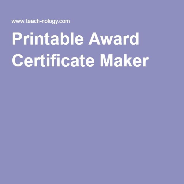 Best 25+ Certificate maker ideas on Pinterest Basketball - employee award certificate templates free
