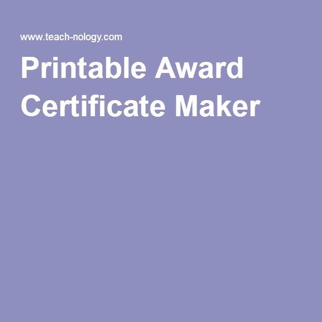 Best 25+ Certificate maker ideas on Pinterest Basketball - certificate maker online free