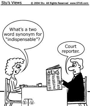 Court Reporter Cartoons