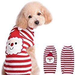 NACOCO Santa Claus Pet sweater Dog sweaters Cold Weather Outfit for small to medium sized dogs and cats for Christmas day (X-Small)