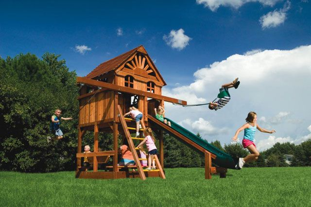 swing sets for small yards small yard play structures swing set rainbow systems 8420