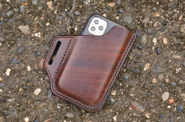Leather iphone 11 pro max phone holster fits iphone 11 pro