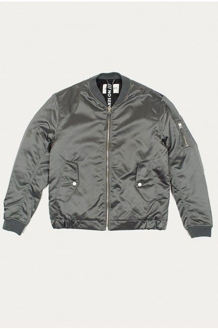 Our Legacy Steel Shine Bomber Jacket