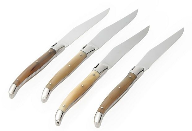S/4 Table Knives, Solid Horn on OneKingsLane.com