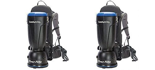 Powr-Flite BP6S Comfort Pro Backpack Vacuum, 6 quart Capacity (Pack of 2)