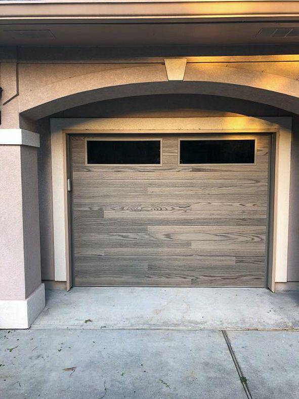 Driftwood Planks Garage Door By C H I Overhead Doors Garage