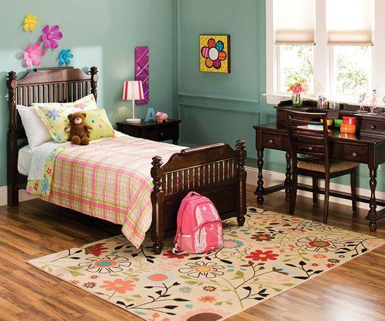 colorful playroom rug inspiration floral