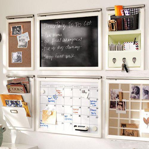 Jenlea daily system half 1 39 5 7 x 2 39 bulletin board for Bulletin board ideas for kitchen