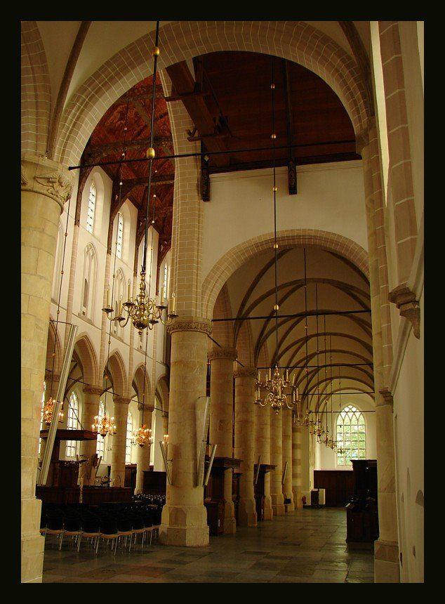 Naarden, The Netherlands - Big protestant church interior