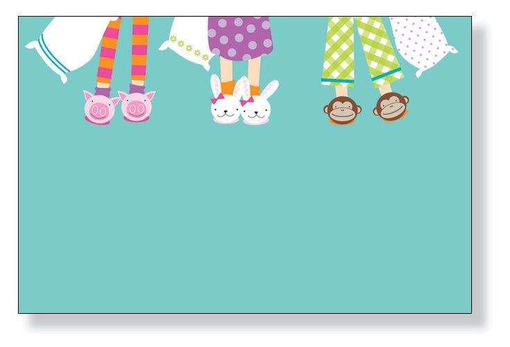 """Slumber Party Feet"" Invitations"
