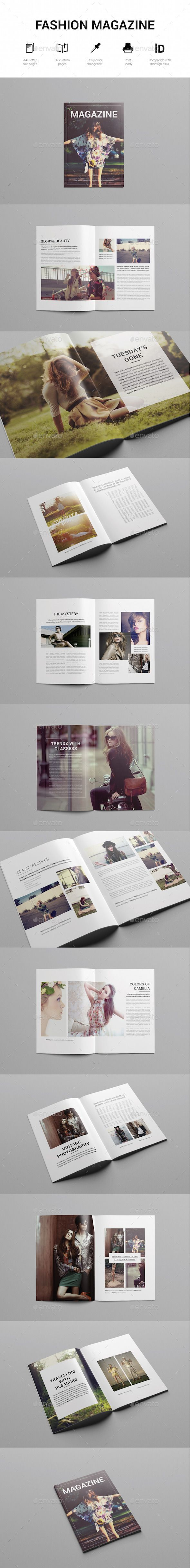 Minimal Fashion Magazine Template | #magazinetemplate | Download: http://graphicriver.net/item/minimal-fashion-magazine-template/10028651?ref=ksioks
