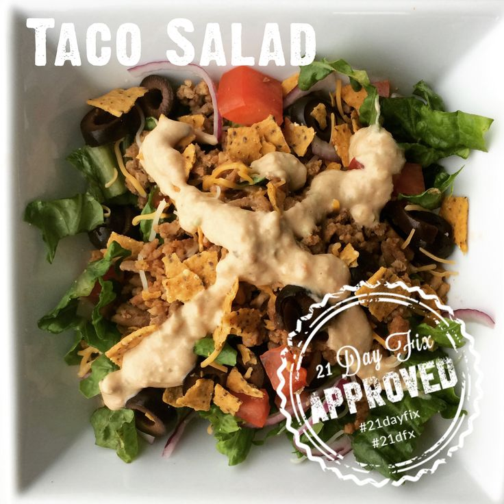 21 Day Fix Taco Salad