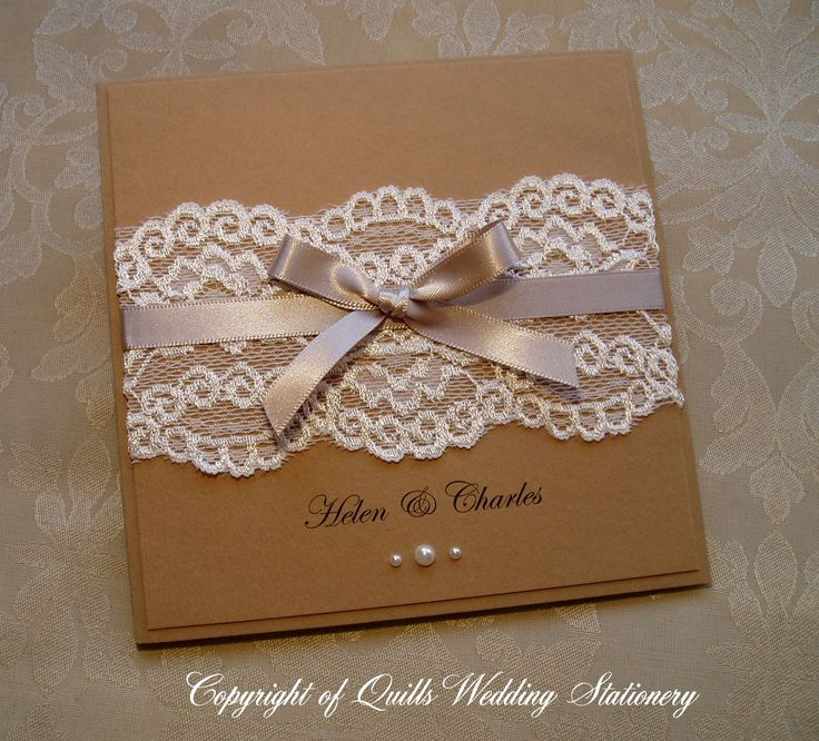 Wedding Invitation from my 'Country Lace' collection. www.quillsweddingstationery.co.uk https://www.facebook.com/pages/Quills-Wedding-Stationery/278003989009997