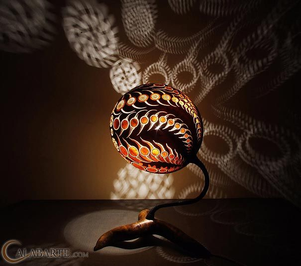 Wonderful Exotic Gourd Lamps By Calabarte