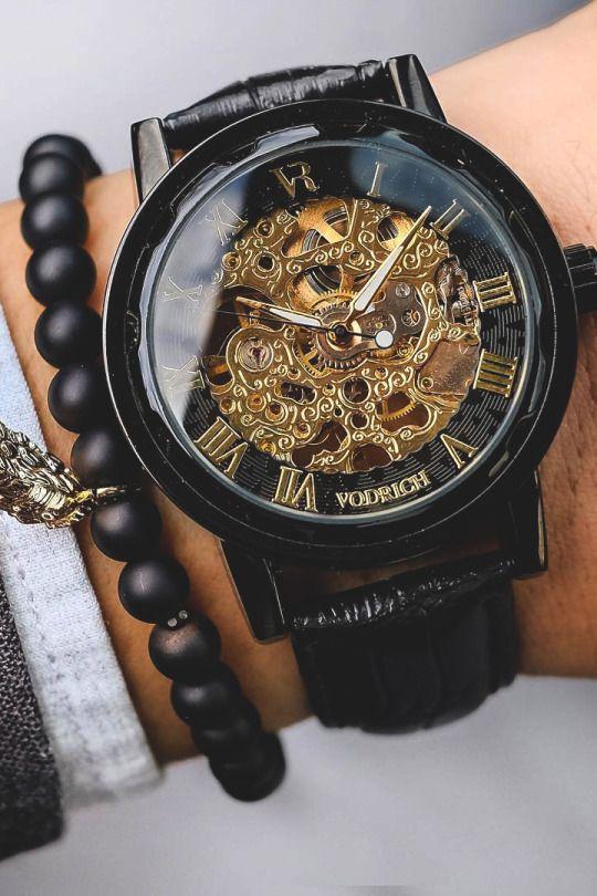 Vivid Essentials  VODRICH Gatsby Watch - $65.00 VODRICH Leaf Charm Bracelet - $25.00  Buy yours here. Source: vodrich.com