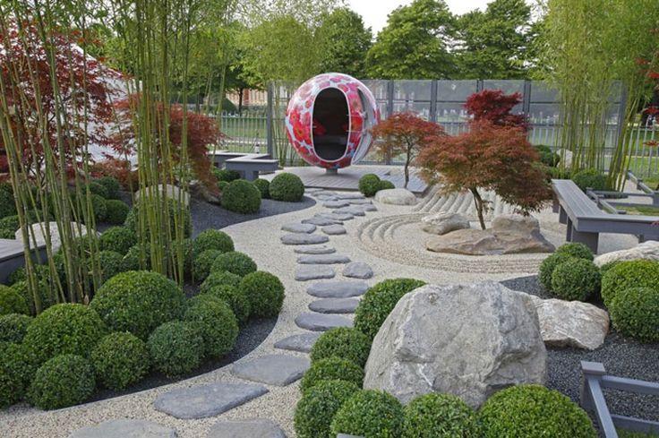Foto del giardino zen in stile giapponese n.10
